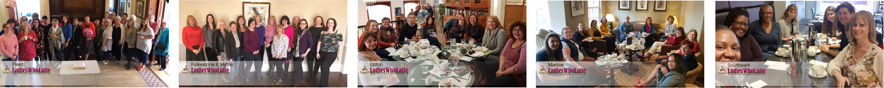 some of our Ladies Who Latte meeting groups